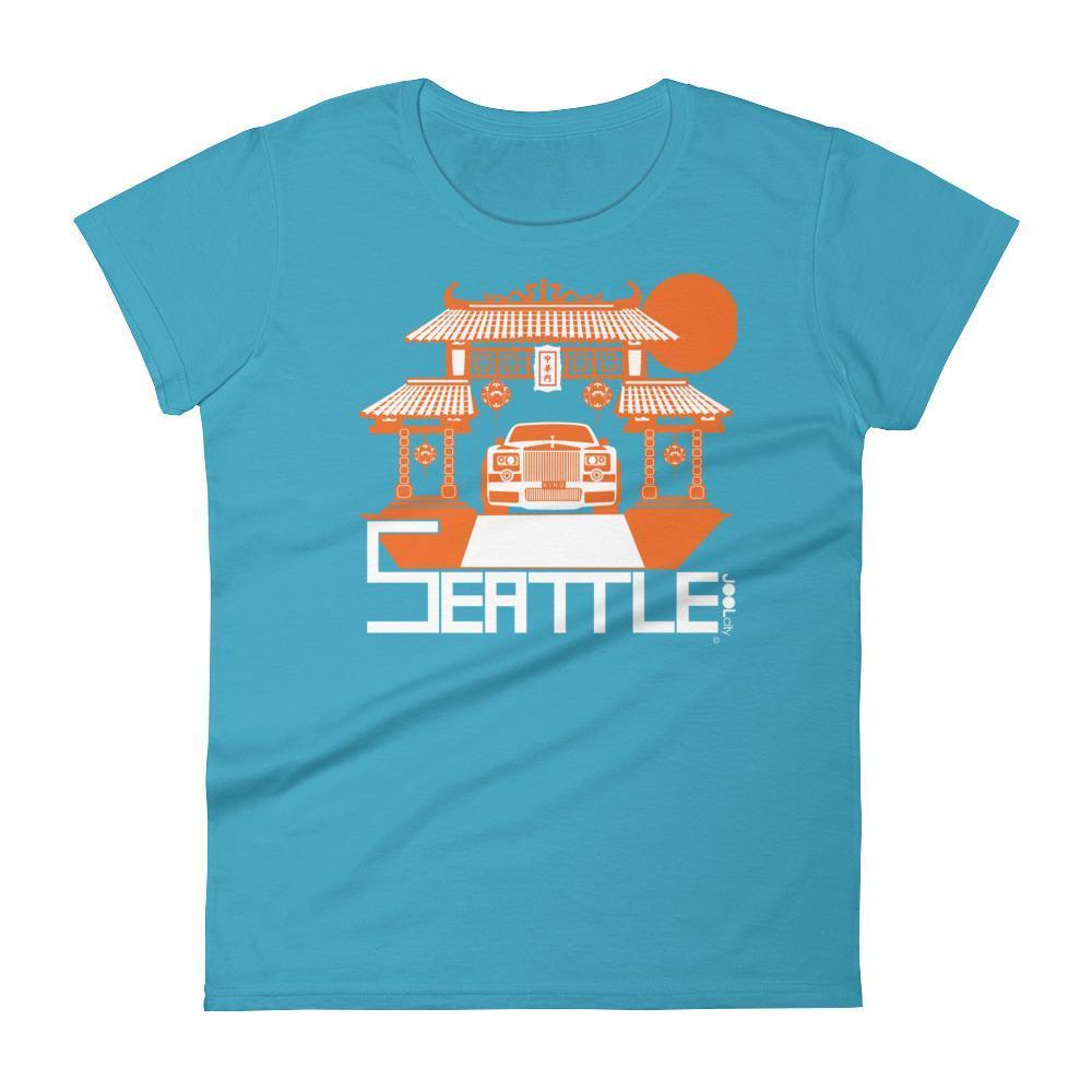 Seattle Chinatown Rolls Women's Short Sleeve T-shirt T-Shirt Caribbean Blue / 2XL designed by JOOLcity