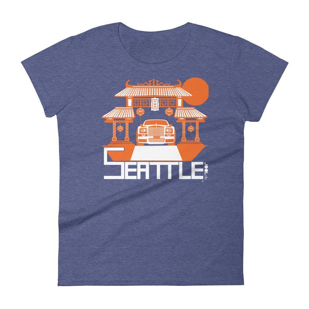 Seattle Chinatown Rolls Women's Short Sleeve T-shirt T-Shirt Heather Blue / 2XL designed by JOOLcity