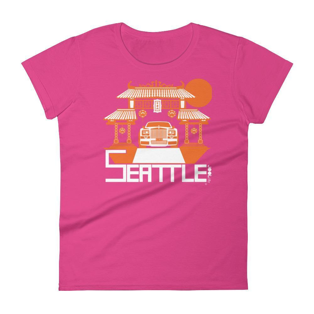 Seattle Chinatown Rolls Women's Short Sleeve T-shirt T-Shirt Hot Pink / 2XL designed by JOOLcity