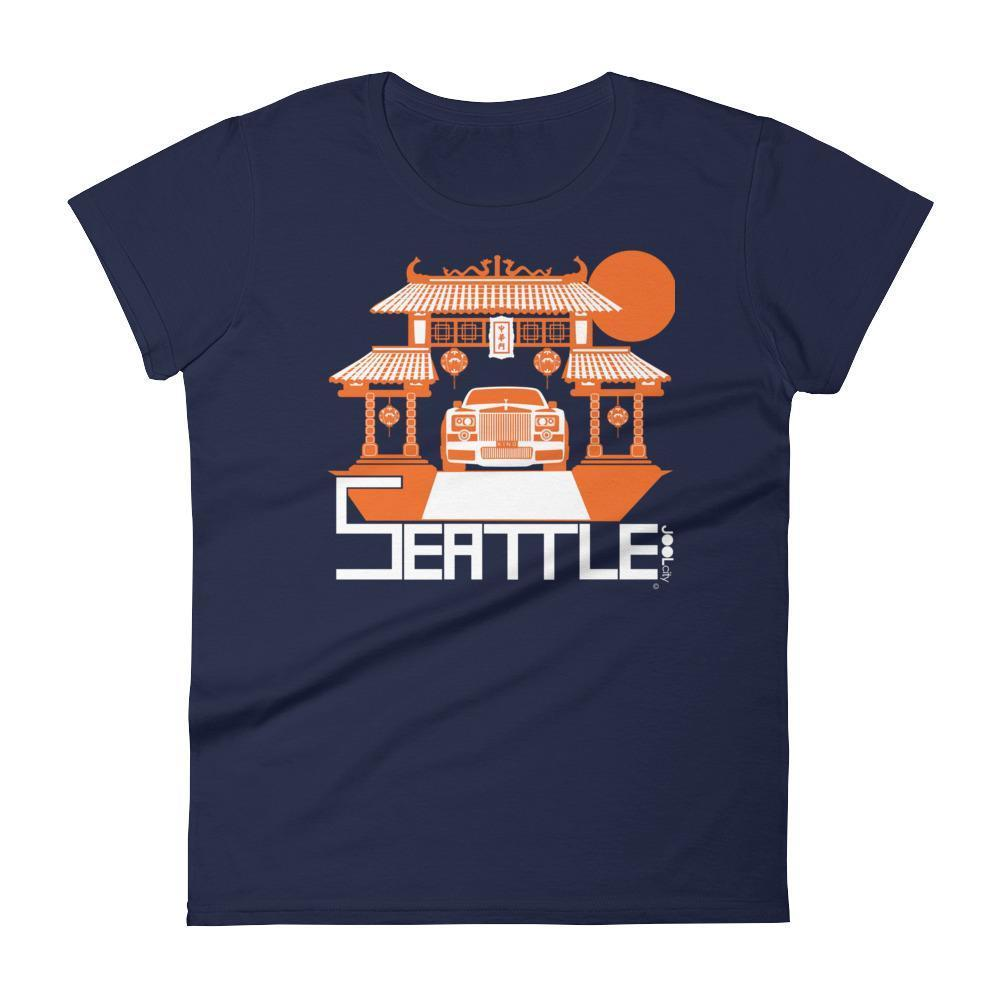 Seattle Chinatown Rolls Women's Short Sleeve T-shirt T-Shirt Navy / 2XL designed by JOOLcity