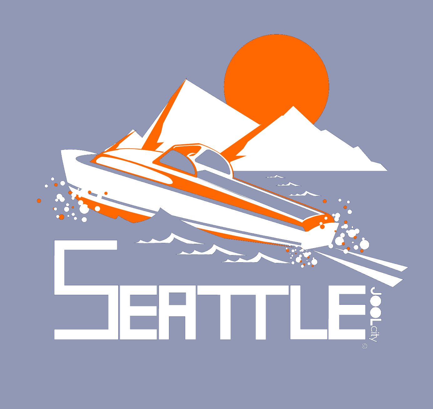 Seattle Cruiser Cruising Short-Sleeve T-Shirt T-Shirt  designed by JOOLcity