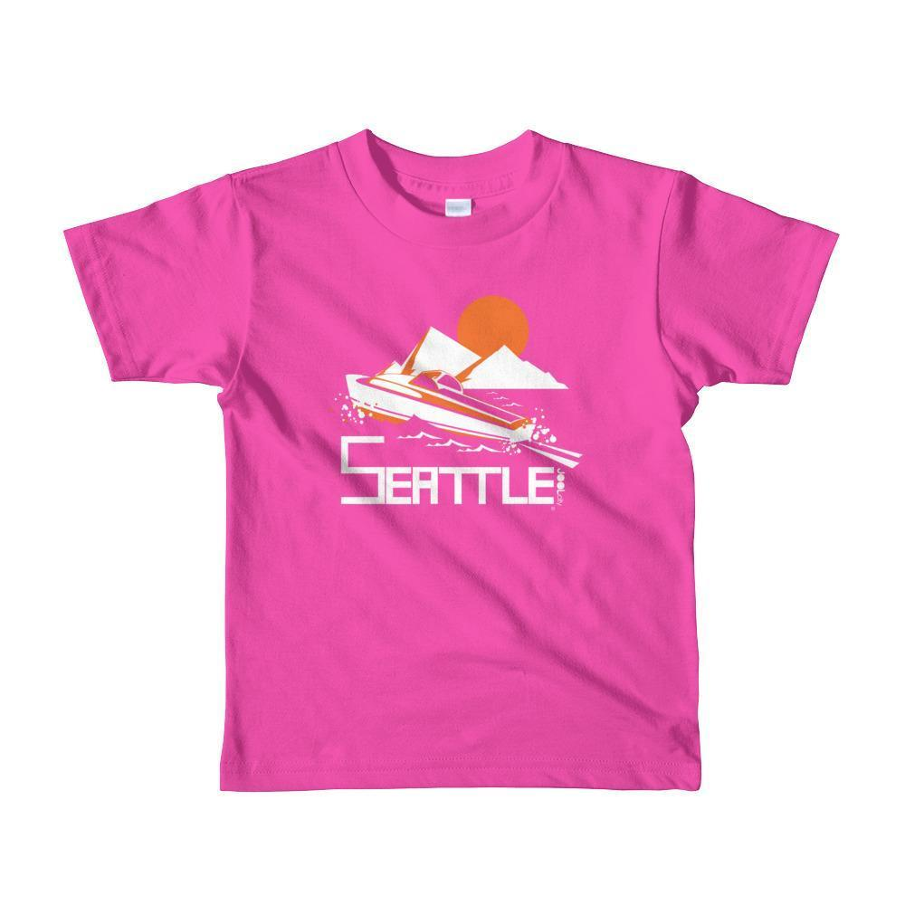 Seattle Cruiser Cruising Toddler Short-Sleeve T-Shirt T-Shirt Fuchsia / 6yrs designed by JOOLcity