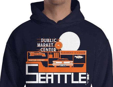 Seattle Market Ride Hooded Sweatshirt