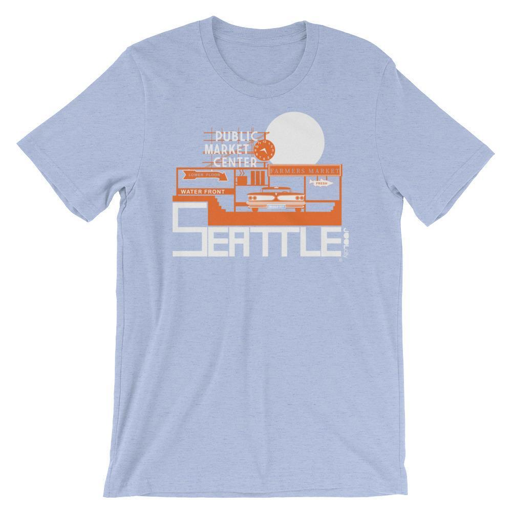 Seattle Market Ride Short-Sleeve Men's  T-Shirt T-Shirt Heather Blue / 2XL designed by JOOLcity