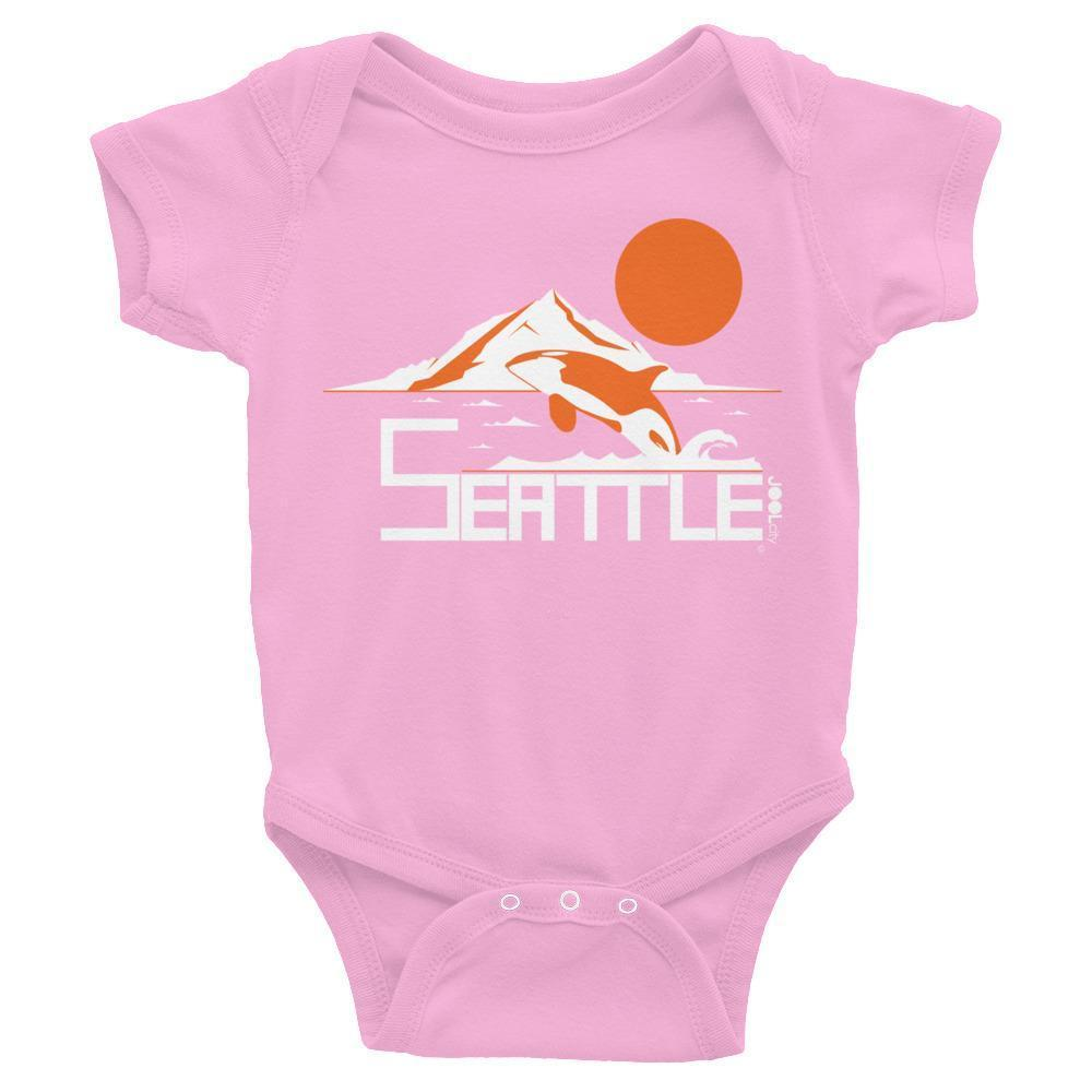 Seattle Orca Love Baby Onesie