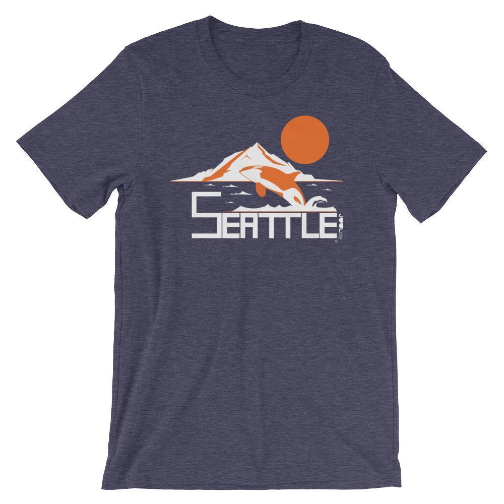 Seattle Orca Love Short-Sleeve Men's  T-Shirt T-Shirt Heather Midnight Navy / 4XL designed by JOOLcity
