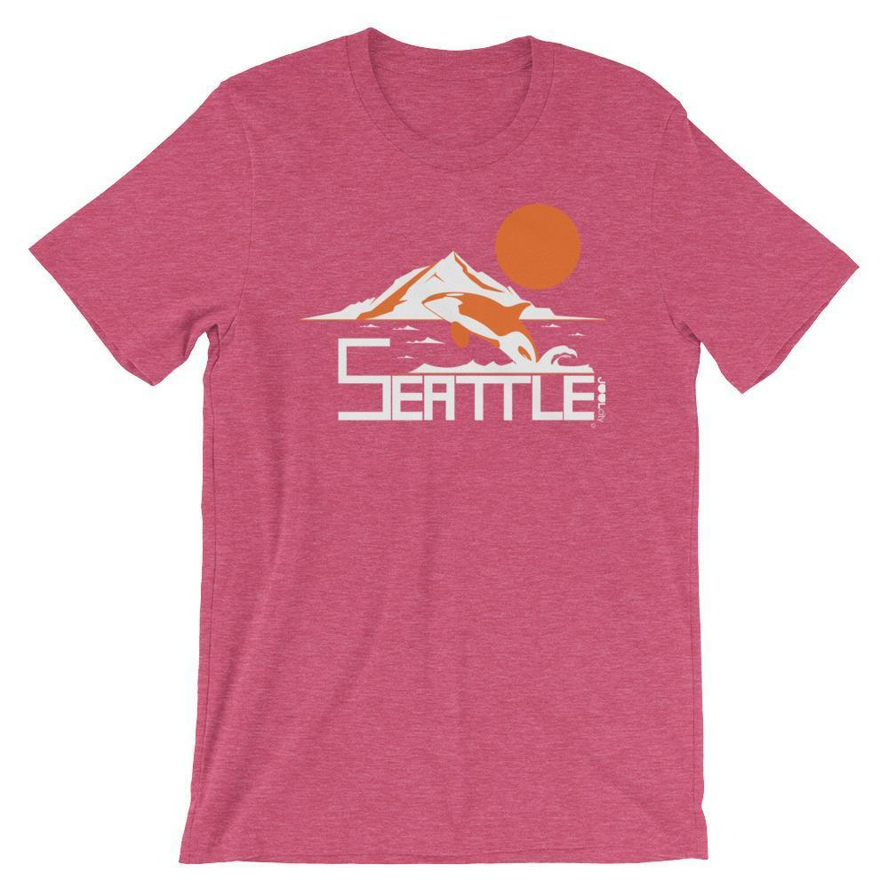 Seattle Orca Love Short-Sleeve Men's  T-Shirt T-Shirt Heather Raspberry / 4XL designed by JOOLcity
