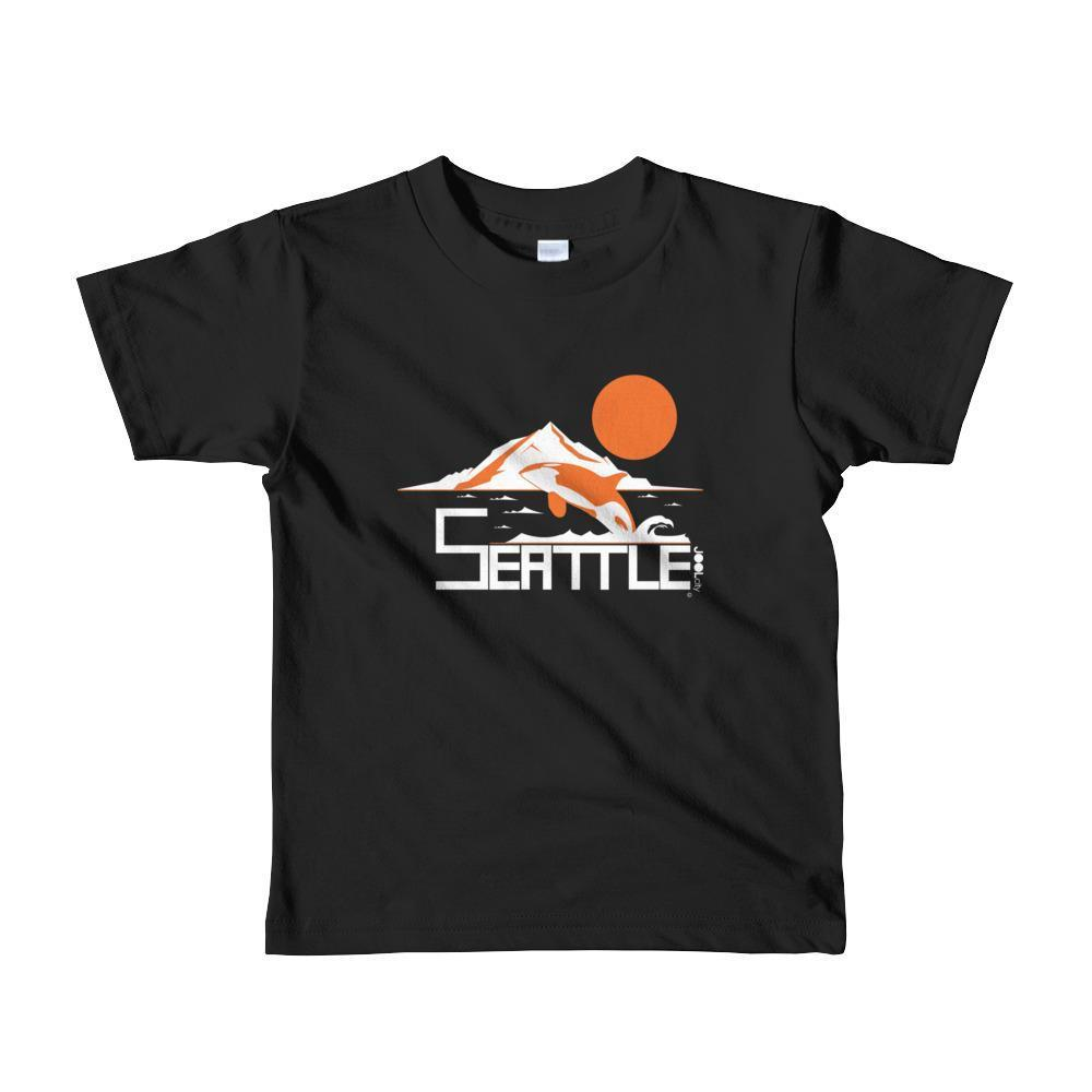 Seattle Orca Love Toddler Short-Sleeve T-Shirt T-Shirt Black / 6yrs designed by JOOLcity