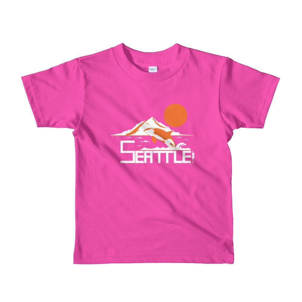Seattle Orca Love Toddler Short-Sleeve T-Shirt T-Shirt Fuchsia / 6yrs designed by JOOLcity