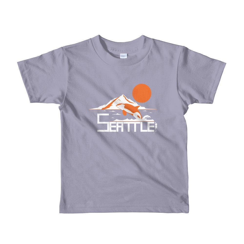 Seattle Orca Love Toddler Short-Sleeve T-Shirt T-Shirt Slate / 6yrs designed by JOOLcity