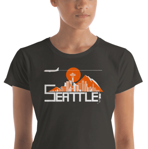 Seattle Skyline Flight Women's Short Sleeve T-Shirt T-Shirt  designed by JOOLcity