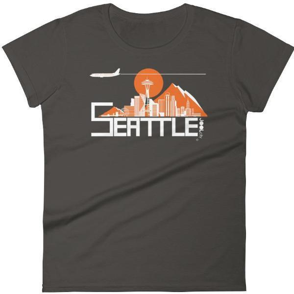 Seattle Skyline Flight Women's Short Sleeve T-Shirt T-Shirt Smoke / 2XL designed by JOOLcity