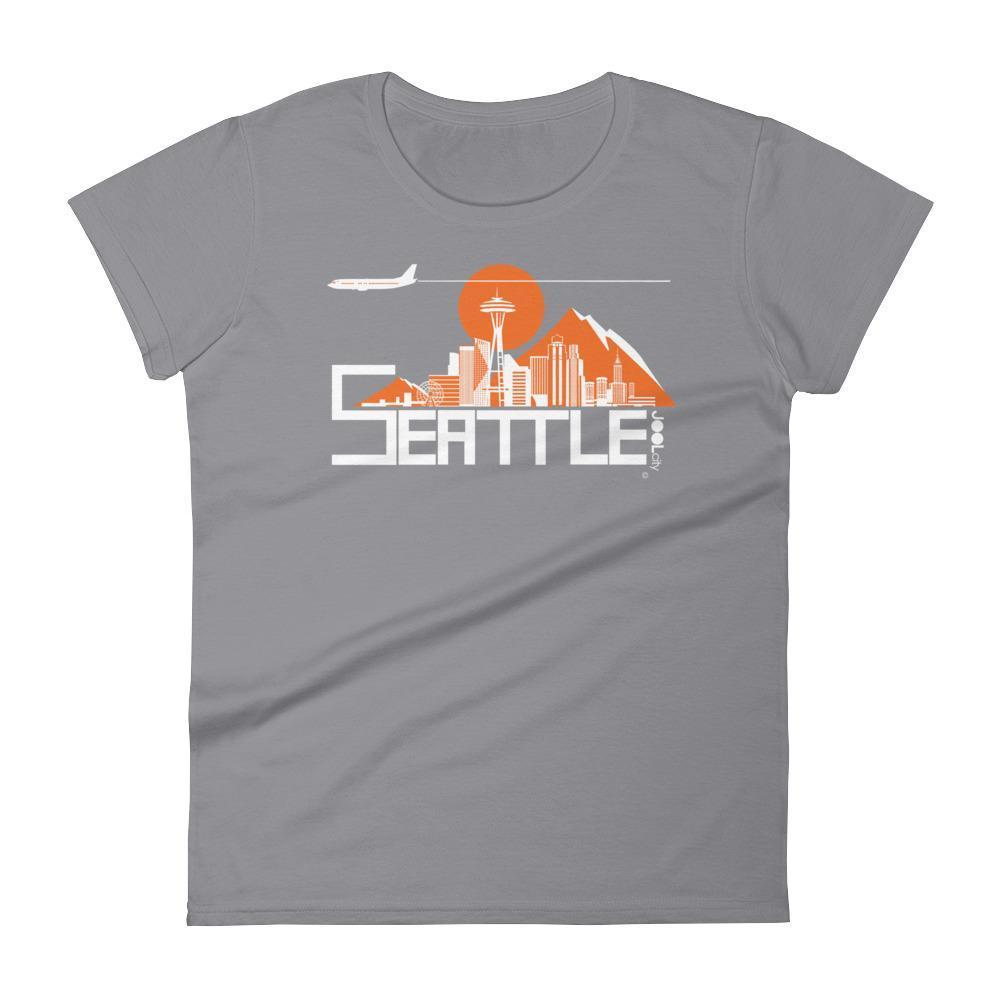 Seattle Skyline Flight Women's Short Sleeve T-Shirt T-Shirt Storm Grey / 2XL designed by JOOLcity