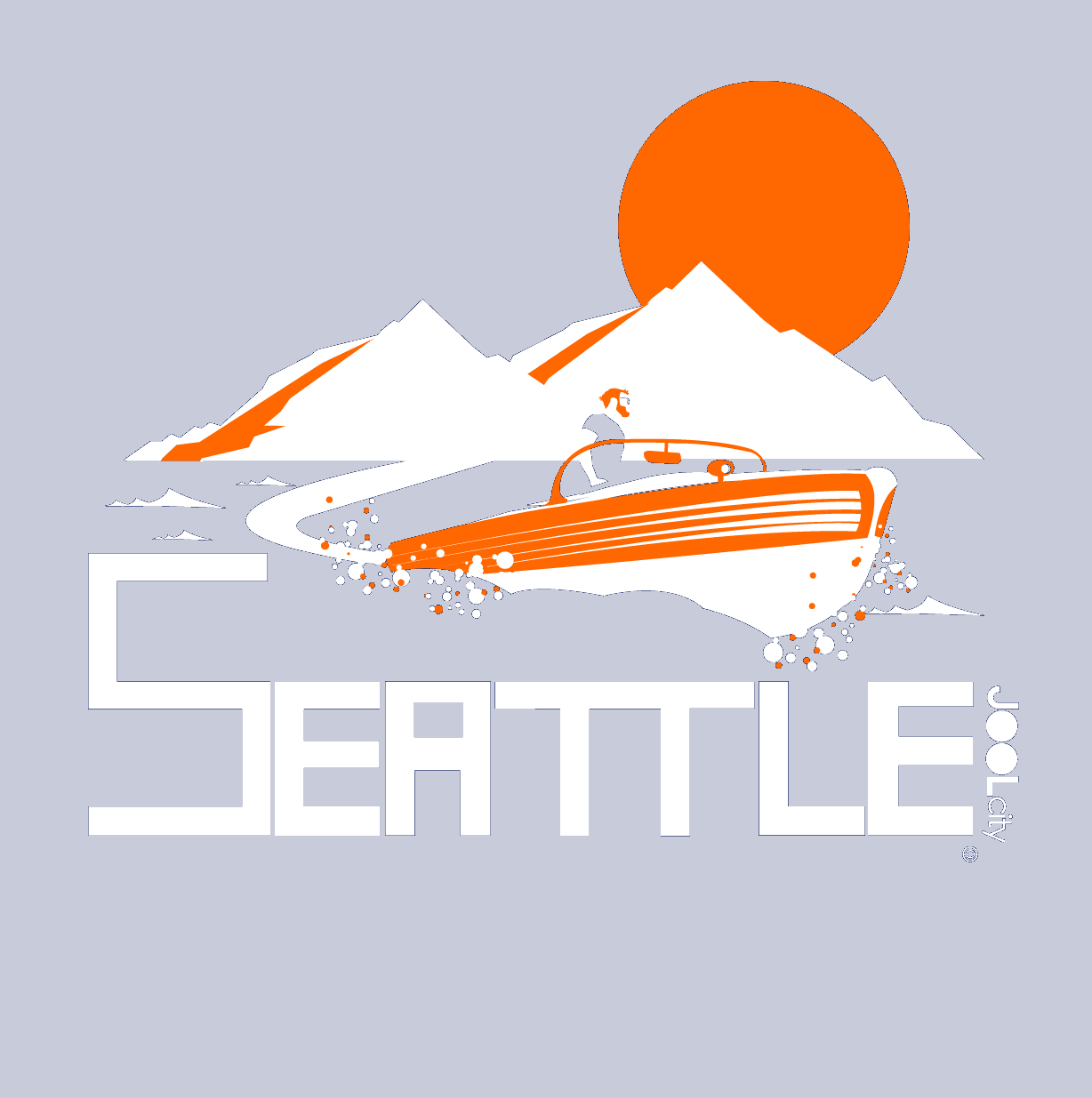 Seattle Wave Runner Baby Onesie