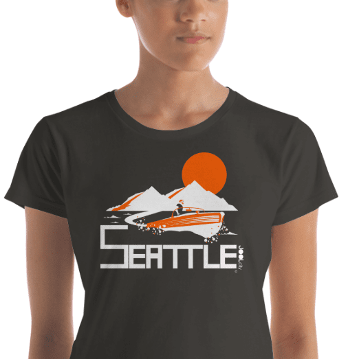 Seattle Wave Runner Women's Short Sleeve T-Shirt T-Shirt  designed by JOOLcity