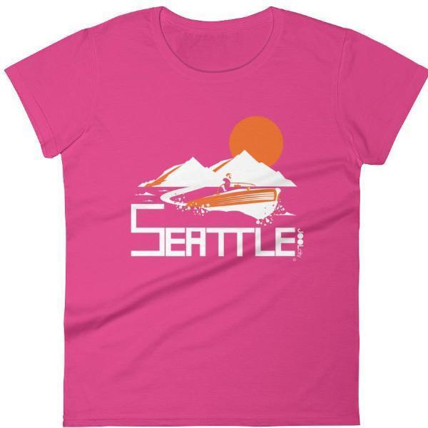 Seattle Wave Runner Women's Short Sleeve T-Shirt T-Shirt Hot Pink / 2XL designed by JOOLcity