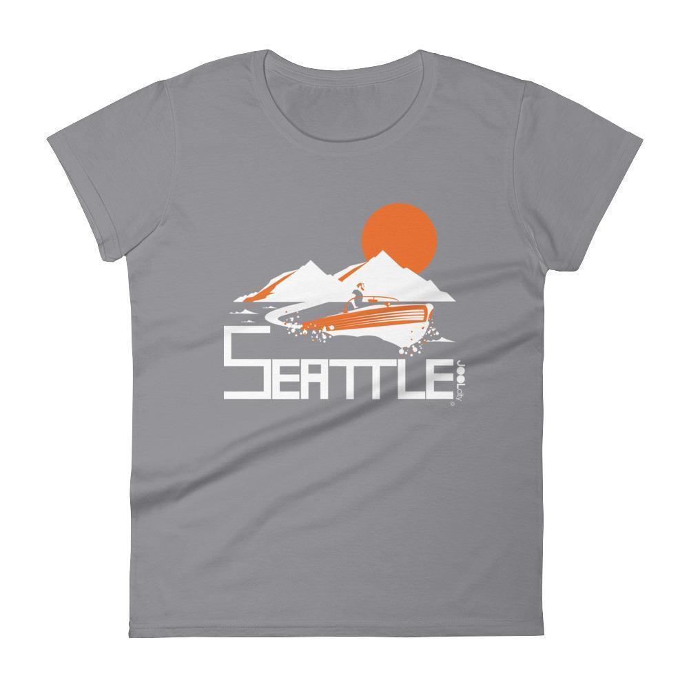 Seattle Wave Runner Women's Short Sleeve T-Shirt T-Shirt Storm Grey / 2XL designed by JOOLcity