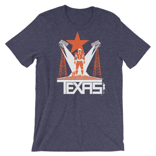 Texas Player One Short-Sleeve Men's T-Shirt T-Shirt Heather Midnight Navy / 2XL designed by JOOLcity