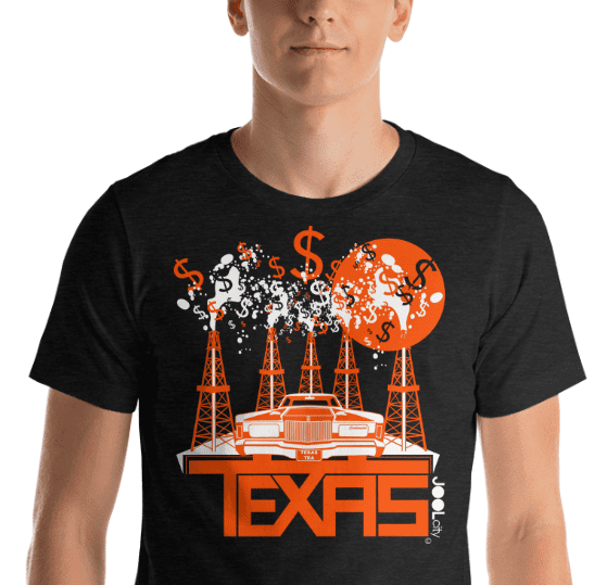Texas Tea Short-Sleeve Men's T-Shirt T-Shirt  designed by JOOLcity