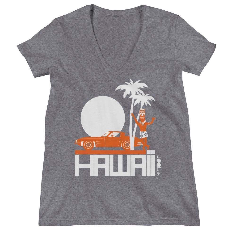 Hawaii Tiki Guy Ride Women's Fashion Deep V-neck Tee