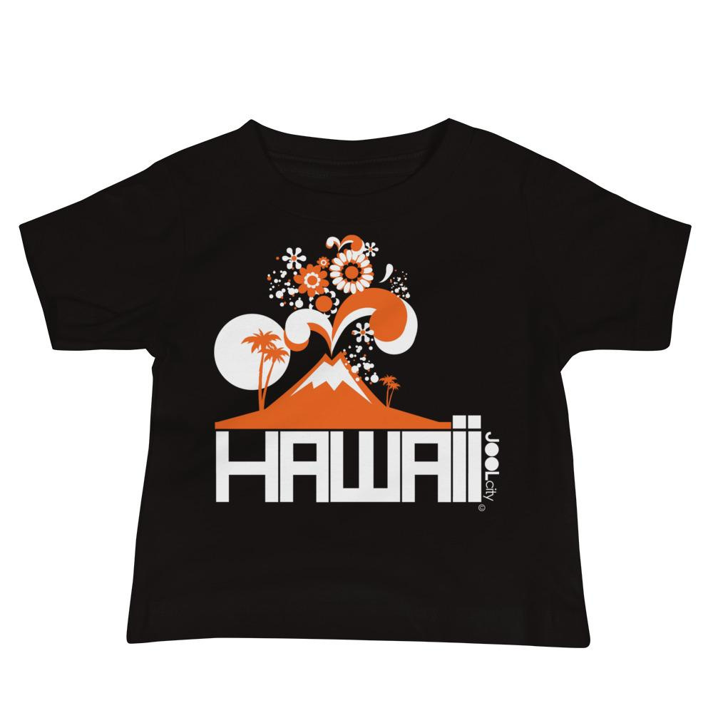 Hawaii Volcano Eruptous Baby Jersey Short Sleeve Tee T-Shirts Black / 18-24m designed by JOOLcity