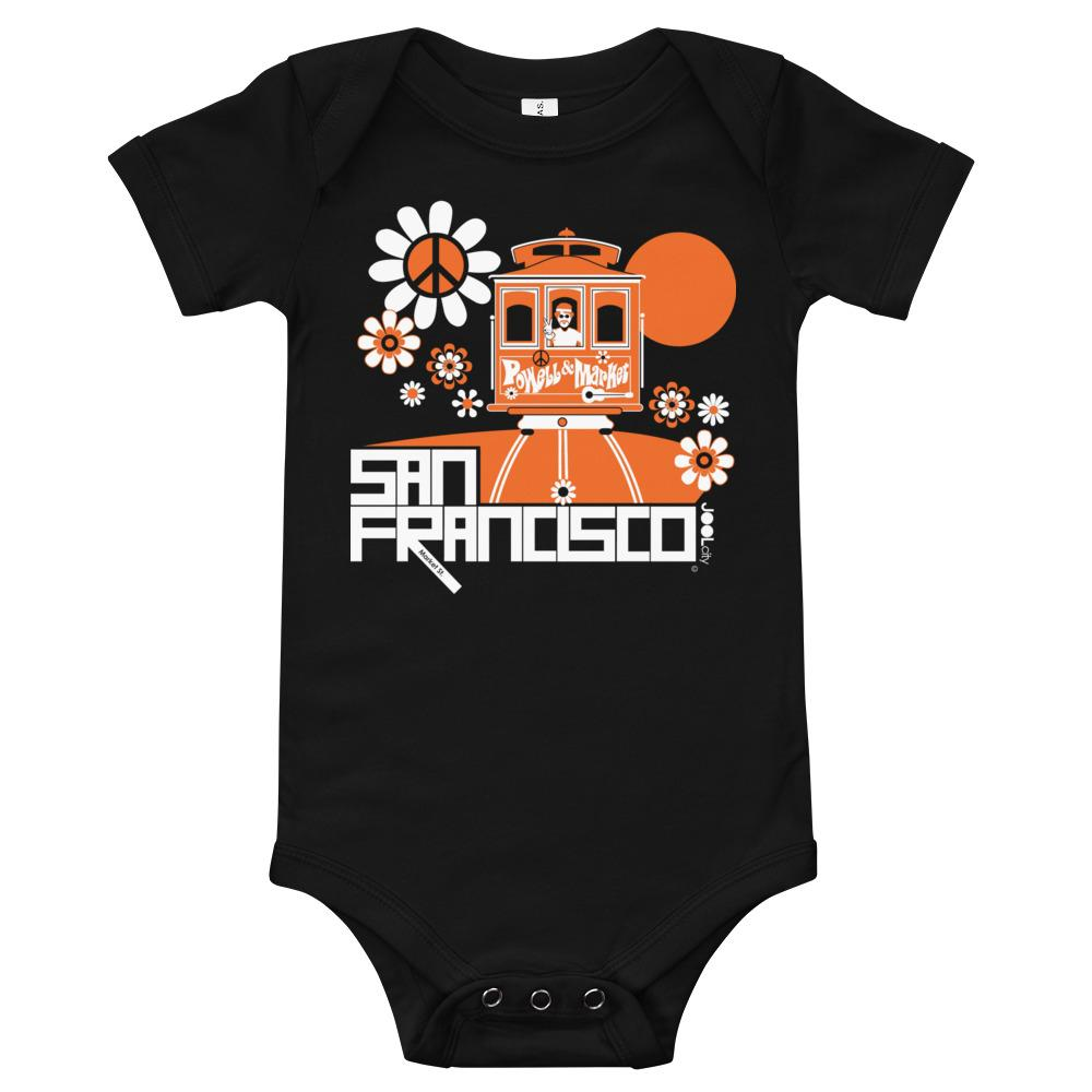 San Francisco Cable Car Groove Baby Onesie