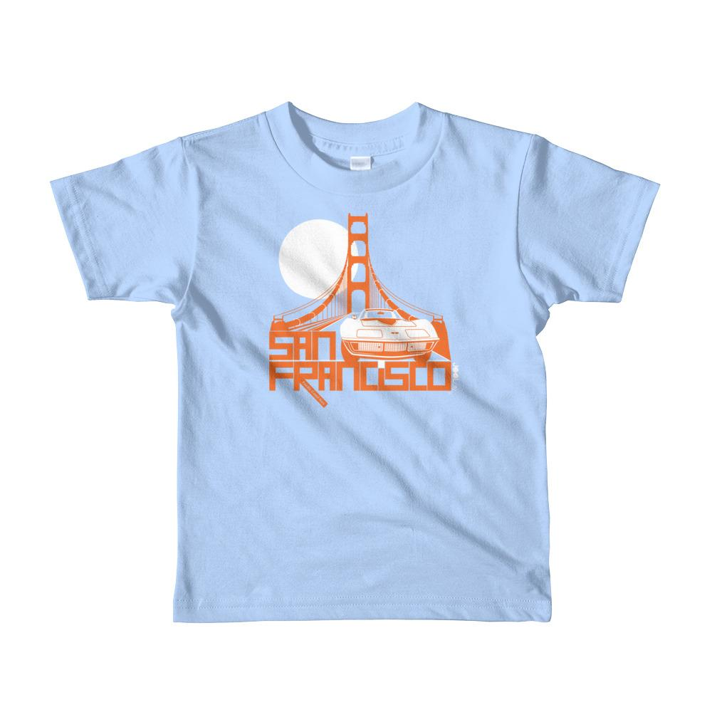 San Francisco Gate Away Short Sleeve Toddler T-shirt T-Shirts Baby Blue / 6yrs designed by JOOLcity
