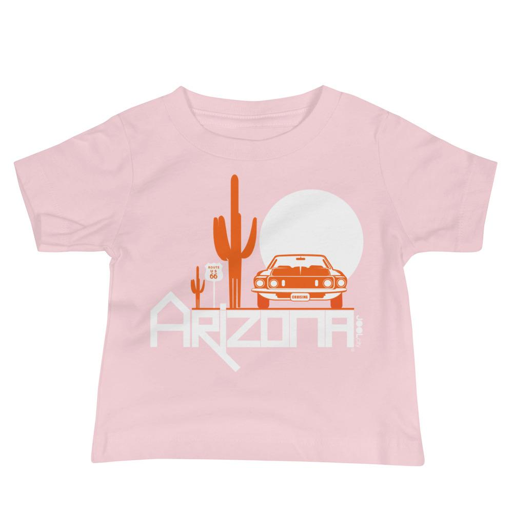 Arizona Cactus Cruise Baby Jersey Short Sleeve Tee T-Shirts Pink / 18-24m designed by JOOLcity