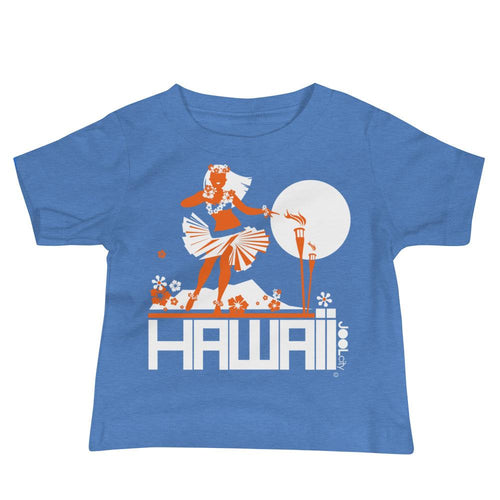 Hawaii Hula Happy Baby Jersey Short Sleeve Tee T-Shirts Heather Columbia Blue / 18-24m designed by JOOLcity