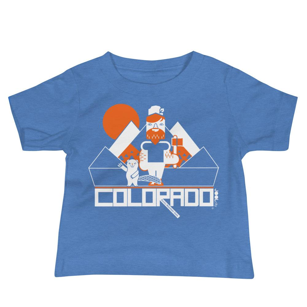 Colorado Lumber Jack Baby Jersey Short Sleeve Tee T-Shirts Heather Columbia Blue / 18-24m designed by JOOLcity