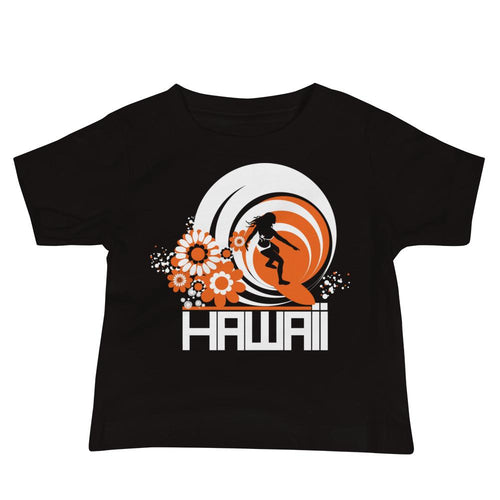 Hawaii Ripcurl Girl Baby Jersey Short Sleeve Tee T-Shirts Black / 18-24m designed by JOOLcity