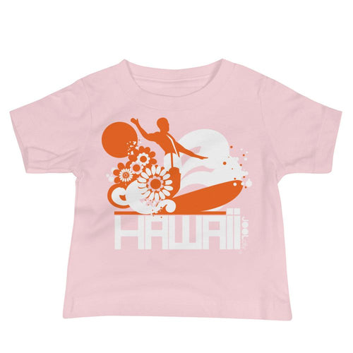 Hawaii Longboard Love Baby Jersey Short Sleeve Tee T-Shirts Pink / 18-24m designed by JOOLcity