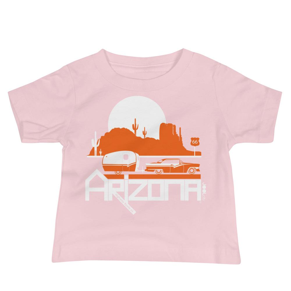 Arizona Retro Route 66 Baby Jersey Short Sleeve Tee T-Shirts Pink / 18-24m designed by JOOLcity