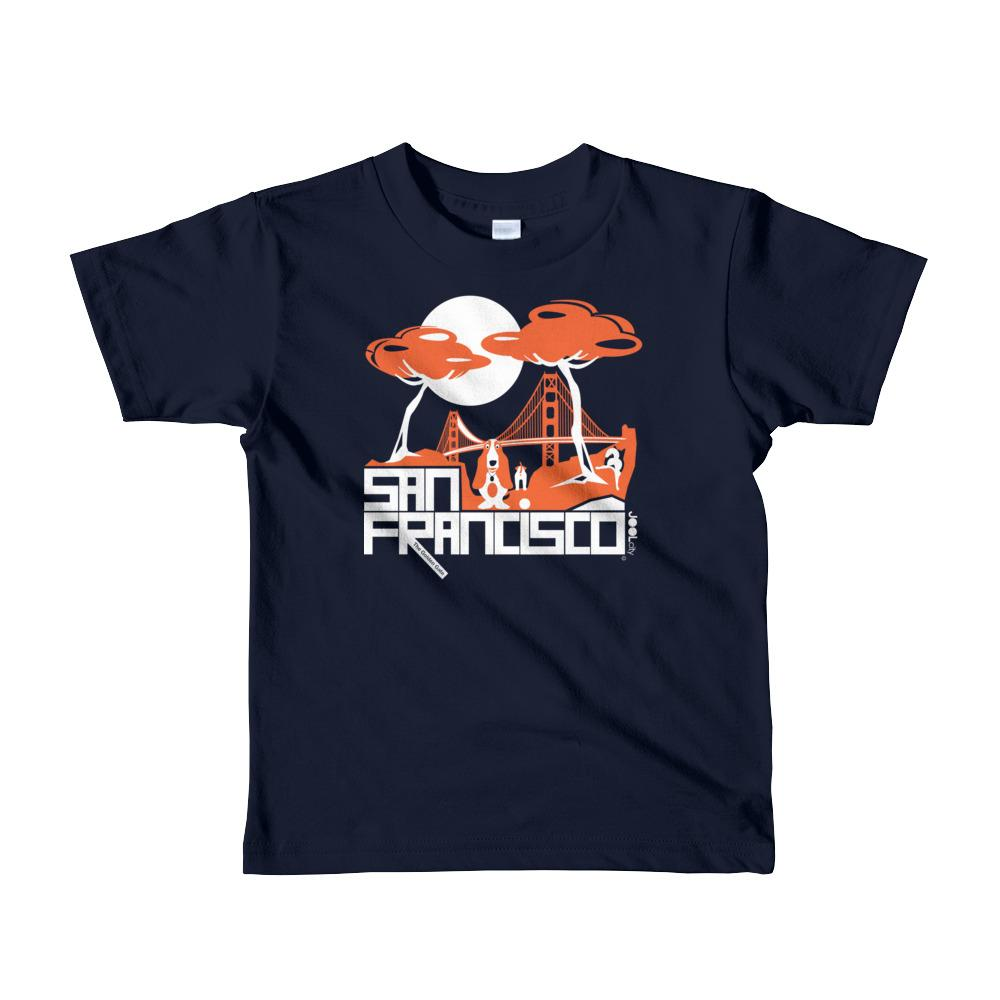 San Francisco Puppy Gate Short Sleeve Toddler T-shirt T-Shirts Navy / 6yrs designed by JOOLcity