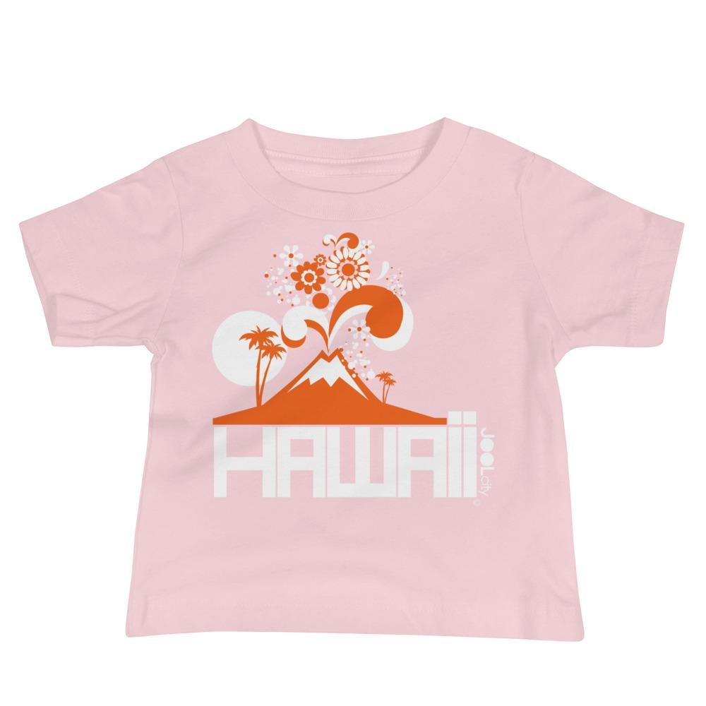 Hawaii Volcano Eruptous Baby Jersey Short Sleeve Tee T-Shirts Pink / 18-24m designed by JOOLcity