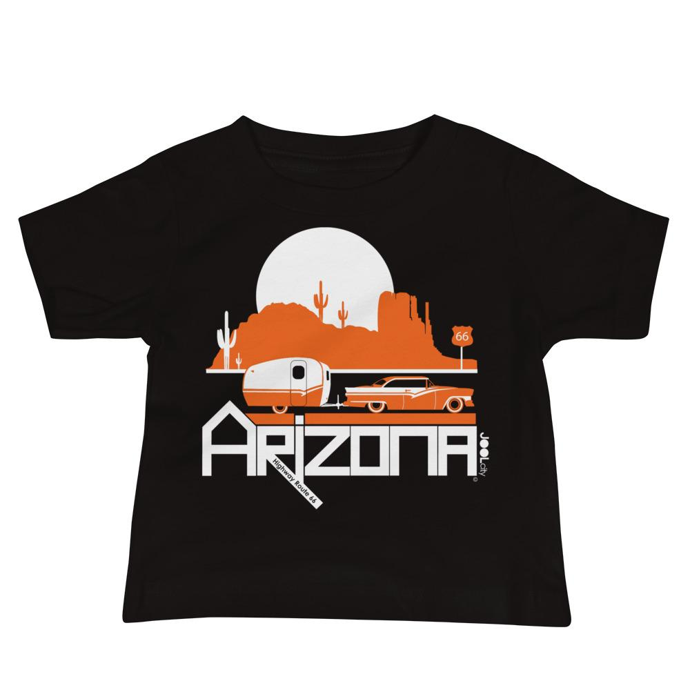 Arizona Retro Route 66 Baby Jersey Short Sleeve Tee T-Shirts Black / 18-24m designed by JOOLcity