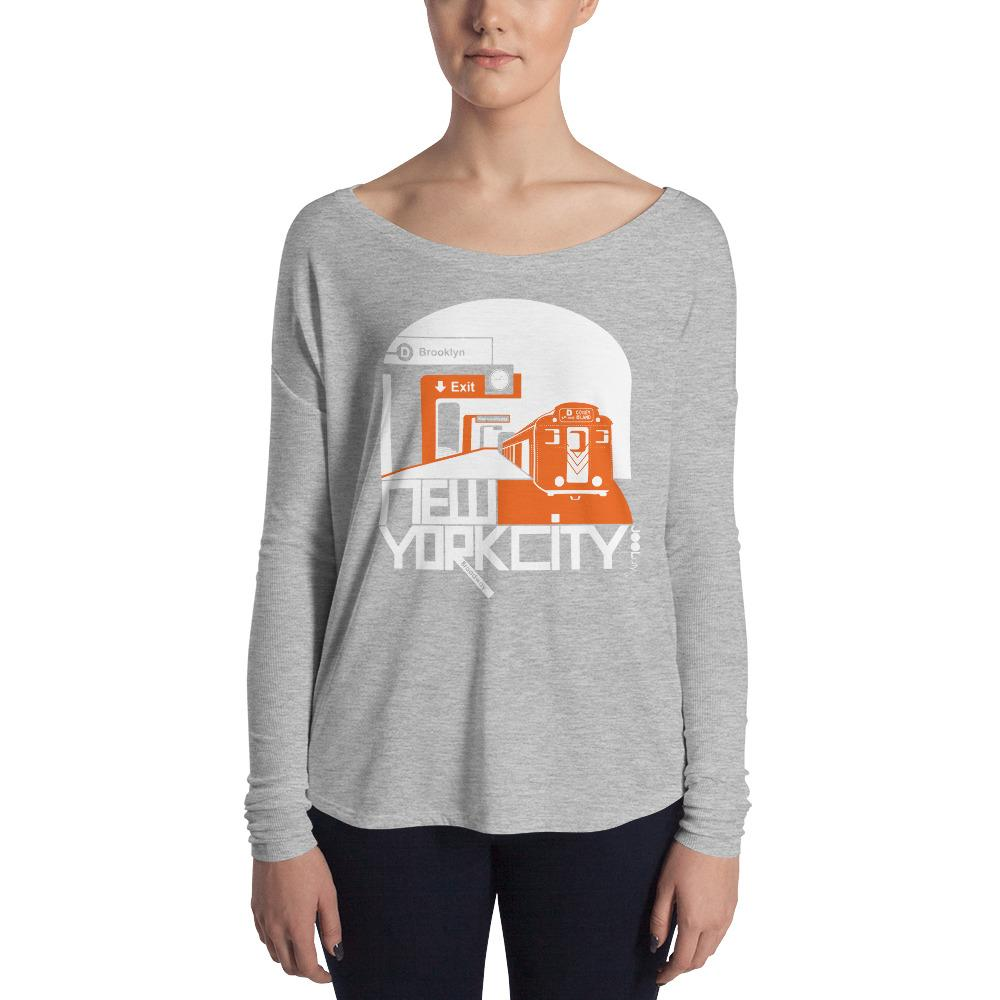 New York Brooklyn Bound Ladies' Long Sleeve Tee