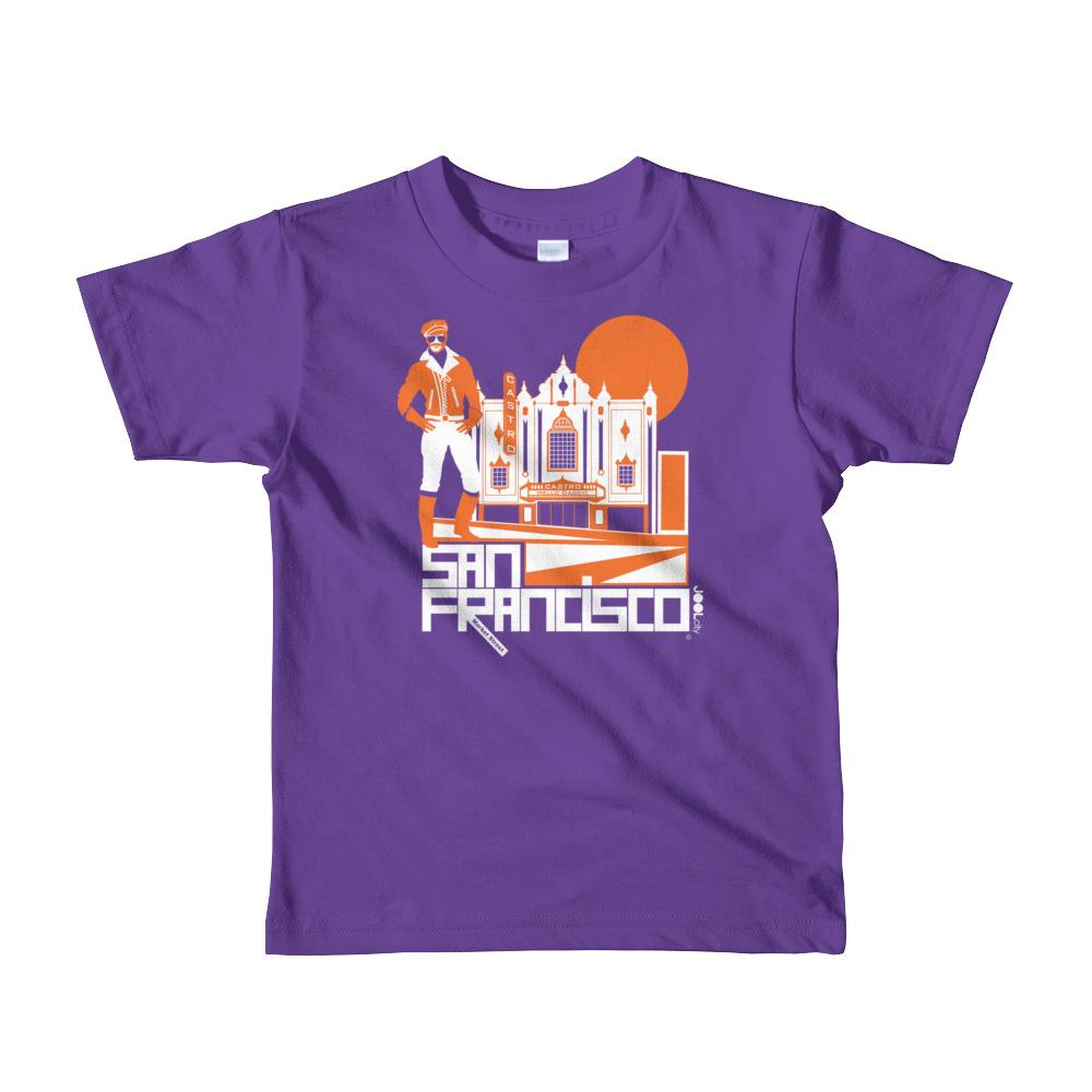 San Francisco Castro Daddy Short Sleeve Kids T-shirt T-Shirts Purple / 6yrs designed by JOOLcity