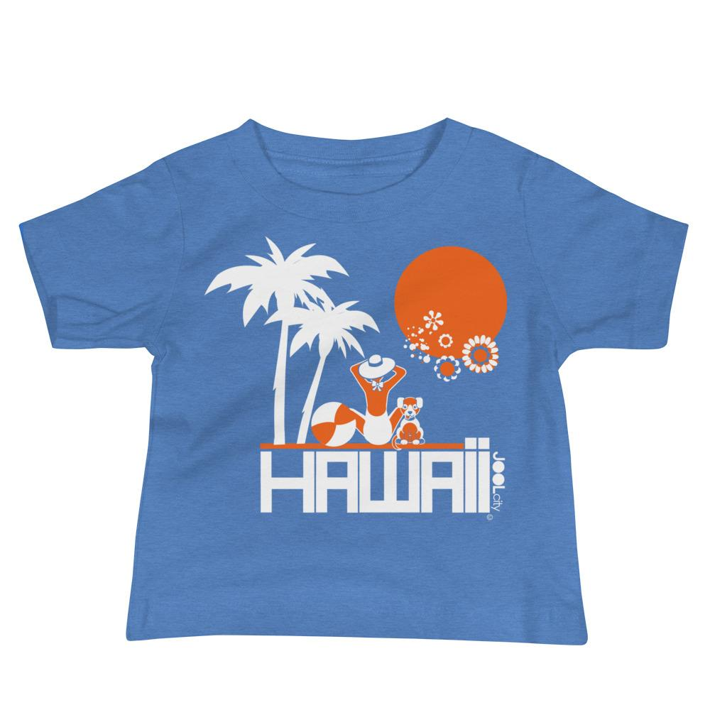 Hawaii Beach Love Baby Jersey Short Sleeve Tee T-Shirts Heather Columbia Blue / 18-24m designed by JOOLcity