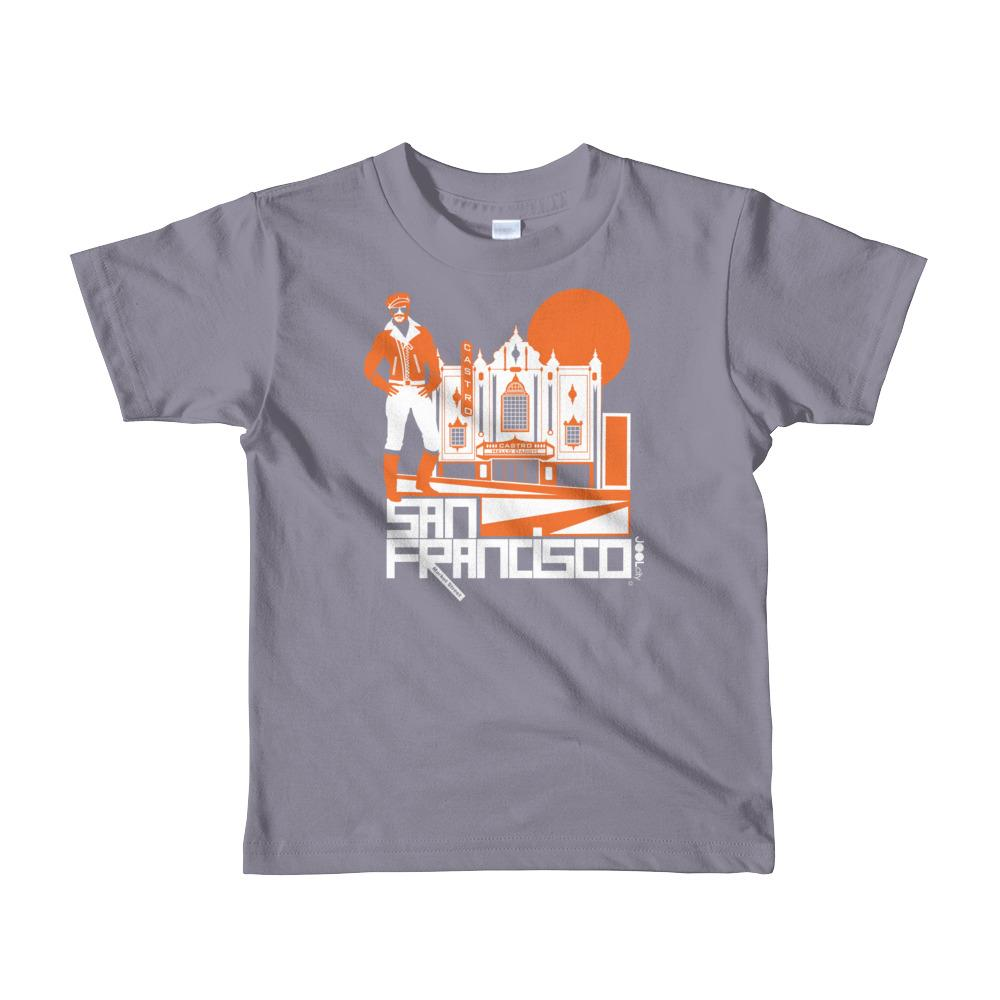 San Francisco Castro Daddy Short Sleeve Kids T-shirt T-Shirts Slate / 6yrs designed by JOOLcity