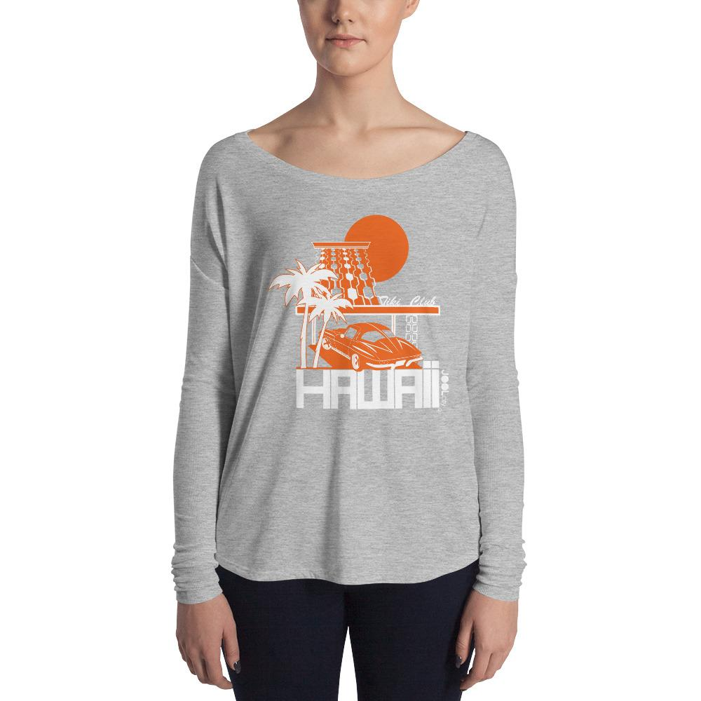 Hawaii Tiki Club Ladies' Long Sleeve Tee