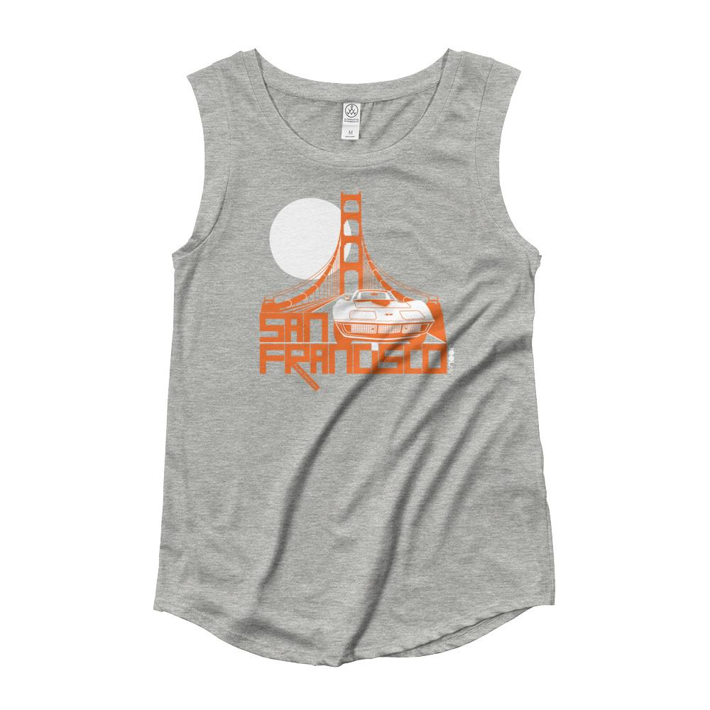 San Francisco Gate Away Ladies' Cap Sleeve T-Shirt