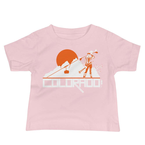 Colorado Apres Ski Baby Jersey Short Sleeve Tee T-Shirts Pink / 18-24m designed by JOOLcity
