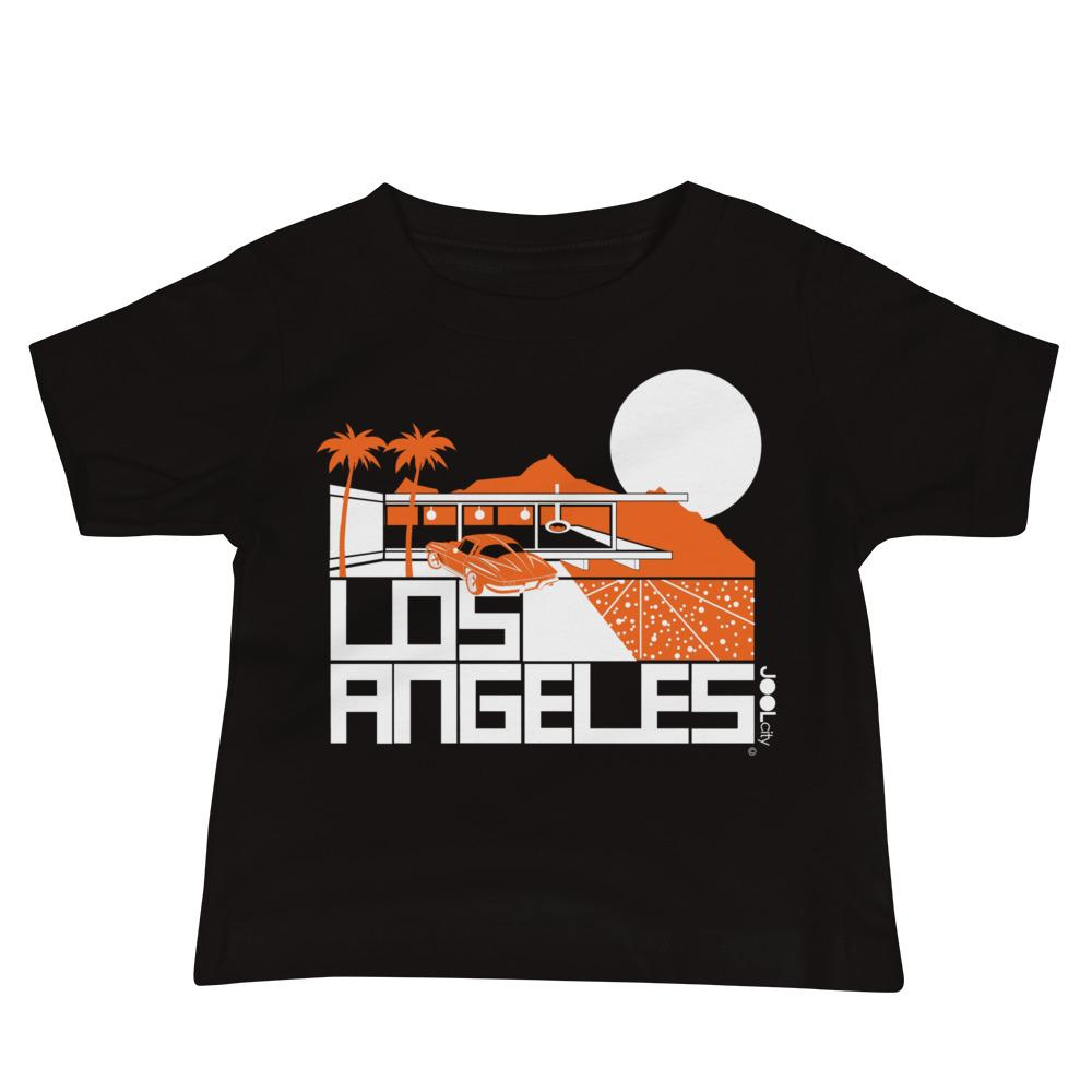 Los Angeles Cliff House Baby Jersey Short Sleeve Tee T-Shirts Black / 18-24m designed by JOOLcity