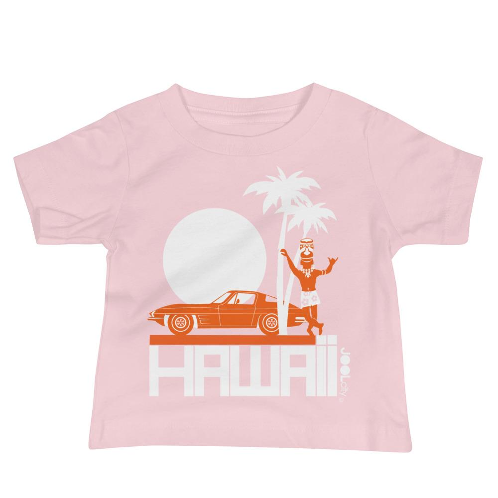 Hawii Tiki Guy Ride Baby Jersey Short Sleeve Tee T-Shirts Pink / 18-24m designed by JOOLcity