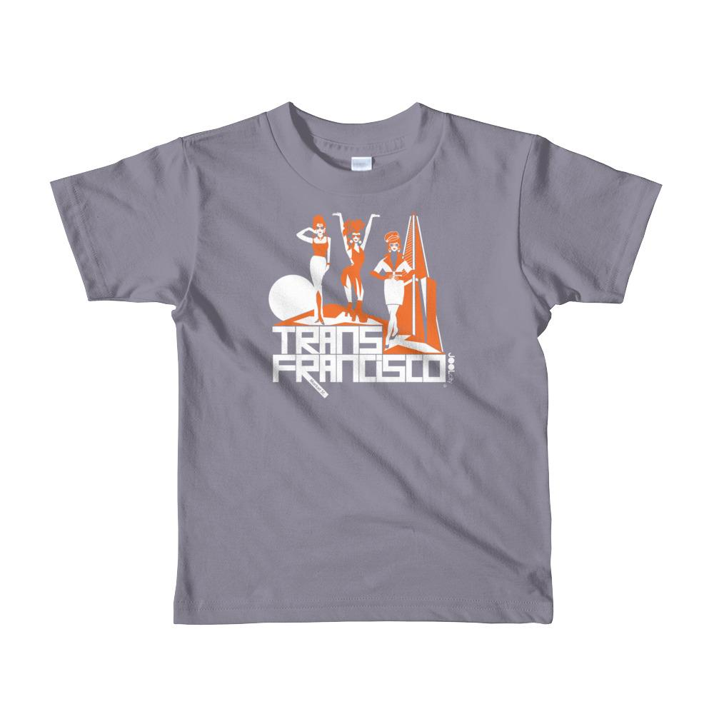 San Francisco Trans Town Short Sleeve Toddler T-shirt T-Shirts Slate / 6yrs designed by JOOLcity