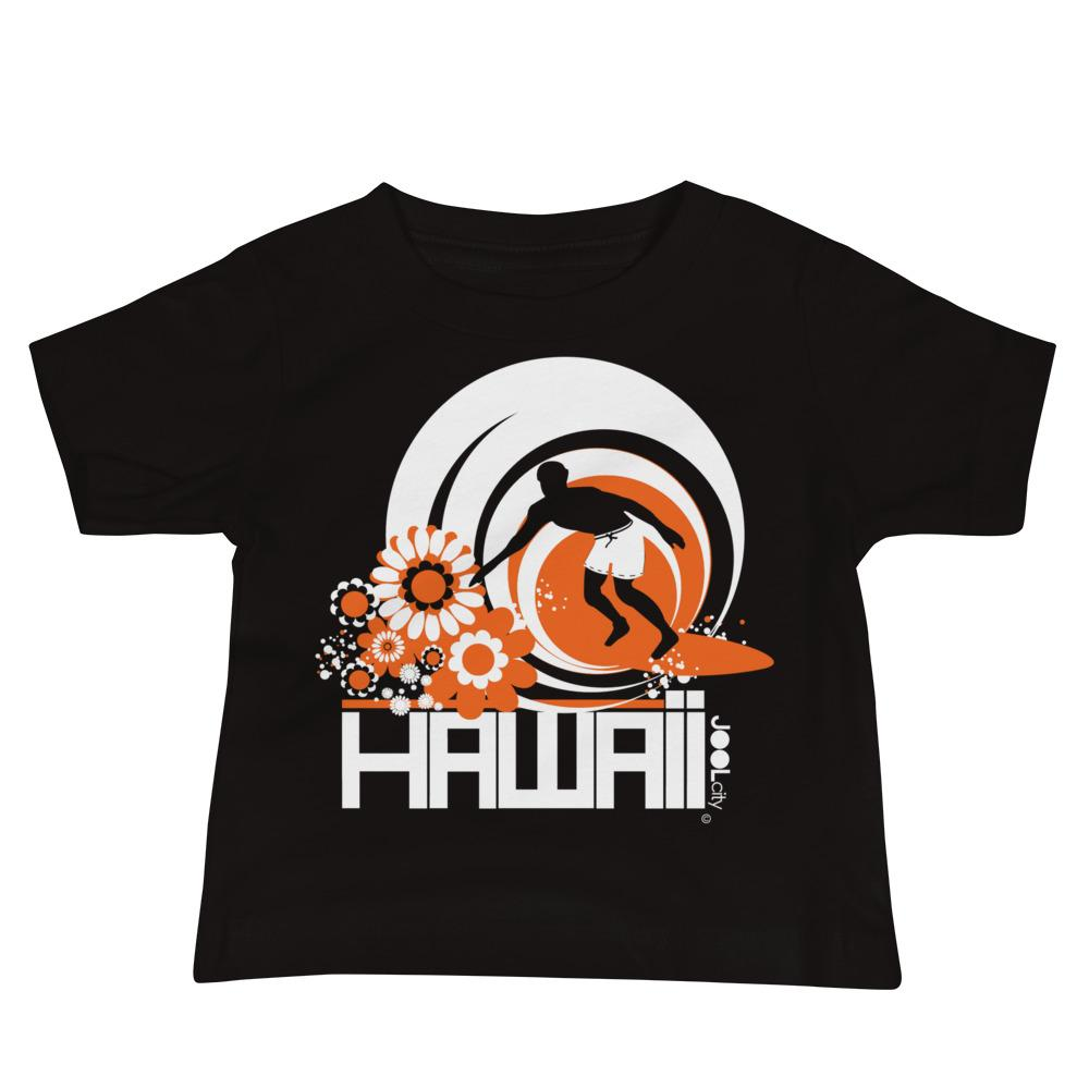 Hawaii Ripcurl Kid Baby Jersey Short Sleeve Tee T-Shirts Black / 18-24m designed by JOOLcity