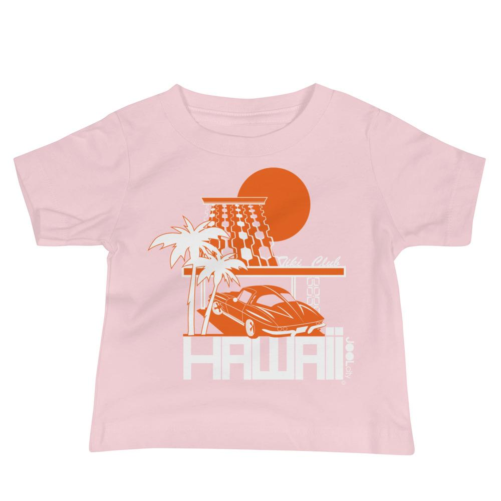 Hawaii Tiki Club Baby Jersey Short Sleeve Tee T-Shirts Pink / 18-24m designed by JOOLcity