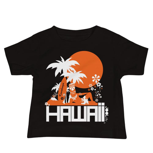 Hawaii Apres Surf Baby Jersey Short Sleeve Tee T-Shirts Black / 18-24m designed by JOOLcity