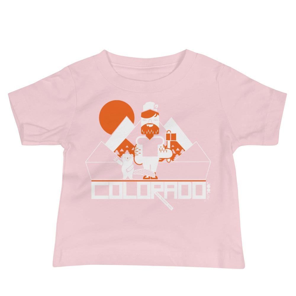 Colorado Lumber Jack Baby Jersey Short Sleeve Tee T-Shirts Pink / 18-24m designed by JOOLcity
